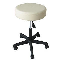 Pneumatic Rolling Adjustable White Medical/ Massage Stool