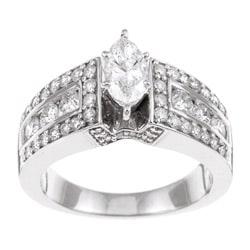 14k White Gold 1 1/2ct TDW Diamond Engagement Ring (H-I, I1-I2)