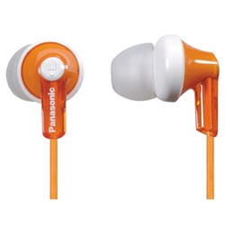 Panasonic Orange In-ear Earbuds