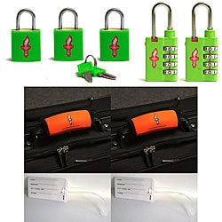 Global Lime Green TSA Locks with Green Padlocks (Set of 2)