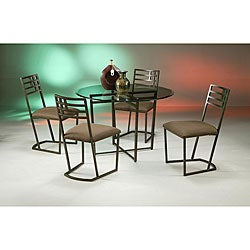 Bellini Brown Metal Dining Set