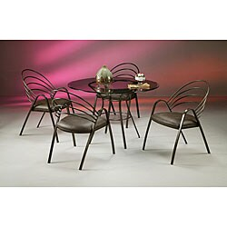 La Costa Brown Metal Dining Set