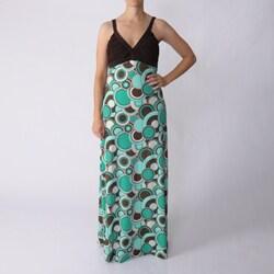 S Max by Adi Women's Mod Print V-neck Maxi Dress