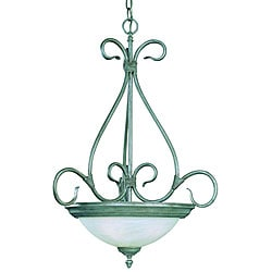 Savoy House Piedmont 3-light Pewter Bowl Pendant