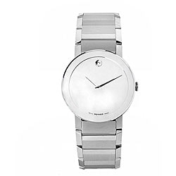 Movado Men's Stainless Steel Mirror-dial Quartz Watch