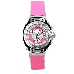 Tissot T0112171733100 Women's T-Race Stainless Steel Pink Rubber Watch