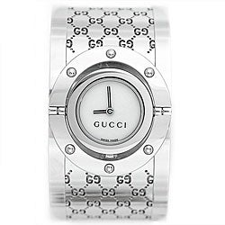 Gucci YA112413 Women's Twirl Series Wide Bangle Stainless Steel Watch