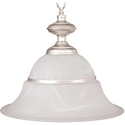 1-light Silver Pendant Light
