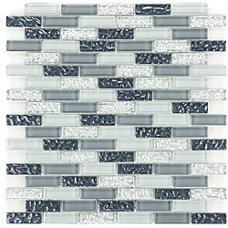 Silver Grey Sand Glass Tiles C-218 (Pack of 11)