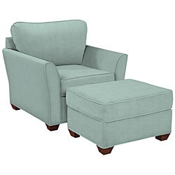 Logan seafoam cotton fabric arm chair 12981094 for Abbyson living soho cream fabric chaise