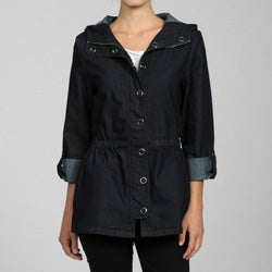 Dish Jeans Women's Hooded Denim Anorak Jacket