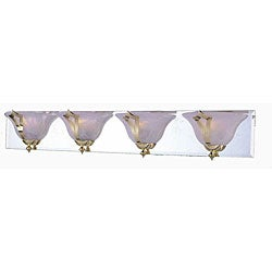 Medallion 4-light Brass Bath Wall Sconce