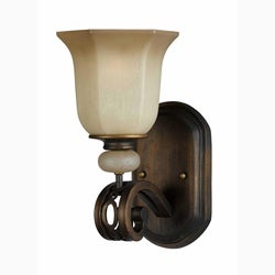 Ironstone 1-light Platinum Bronze Wall Sconce