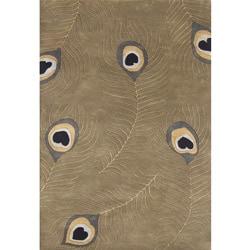 Alliyah Handmade Beige Wool Rug (8' x 10')