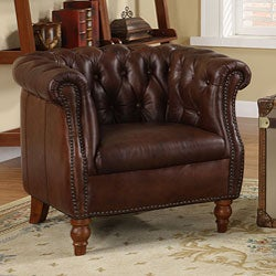 Testbrand Victoria Top Grain Leather Club Chair