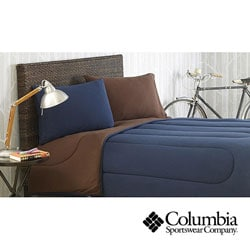 Columbia Jersey Knit Navy Full Queen Size Comforter Set