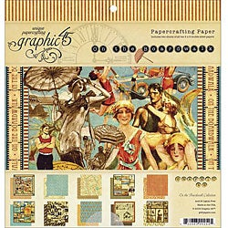 'On The Boardwalk' Double-Sided Scrapbooking Paper Pad (8 x 8)