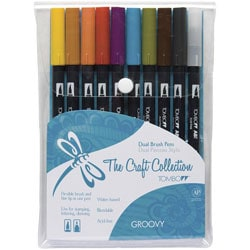 Tombow Groovy Dual Brush Set (Pack of 10)