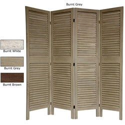 Wood Classic Venetian 4-panel 5.5-foot Room Divider (China)