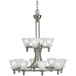 12-light Brushed Nickel Chandelier