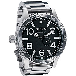 Nixon 51-30 Men's Black Dial Stainless Steel Watch