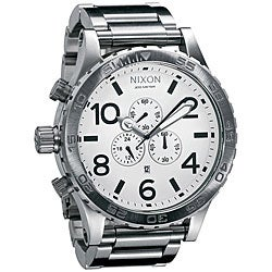 Nixon 51-30 Men's White Dial Stainless Steel Watch