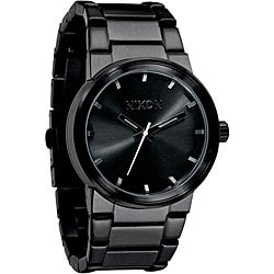 Nixon Men's 'Cannon' All Black Stainless Steel Watch