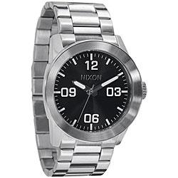 Nixon Private Men's Black Stainless Steel Watch