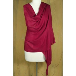 Silk and Cashmere Wool 'Passionately' Shawl (India)