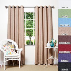 Basketweave Indoor/ Outdoor 84-inch Patio Curtains