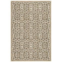 Safavieh Handmade Moroccan Cambridge Brown Wool Rug (4' x 6')