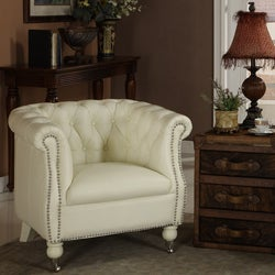 Christina eco leather club chair 12994407 overstock for Abbyson living soho cream fabric chaise