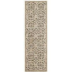 Safavieh Handmade Moroccan Cambridge Brown Wool Rug (2'6 x 12')