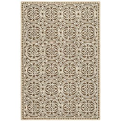 Safavieh Handmade Moroccan Cambridge Brown Wool Rug (8' x 10')
