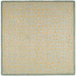 Safavieh Handmade Moroccan Cambridge Blue Wool Rug (8' Square)