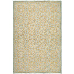 Safavieh Handmade Moroccan Cambridge Blue Wool Rug (9' x 12')
