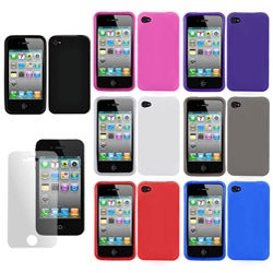 Apple iPhone 4 TPU Skin Case and Screen Protector