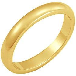 NEXTE Jewelry 14k Gold Overlay Terete Tapered Band (3 mm)