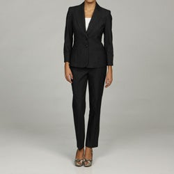 Nine West Women's 2-piece Ribbed Denim Skinny Pant Suit