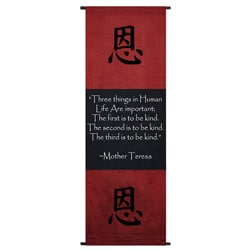 Cotton Kindness Symbol and Mother Teresa Quote Scroll (Indonesia)