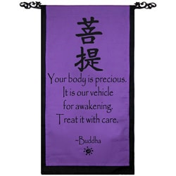 Cotton Awakening Symbol and Buddha Quote Scroll (Indonesia)