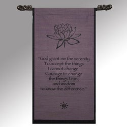 Cotton Lotus Design Serenity Prayer Scroll (Indonesia)