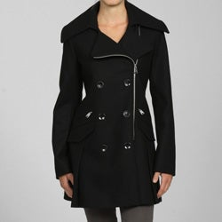 Via Spiga Women's Missy Wool Motorcycle Jacket