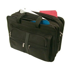 Stebco Black Nylon Deluxe Nylon Laptop Briefcase