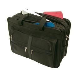 Stebco Black Nylon Deluxe Nylon Laptop Briefcase