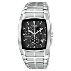 Citizen Men's Eco-Drive Chronograph Calendar Stainless Steel Watch