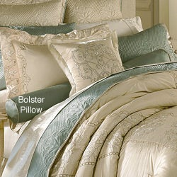 Luxe Versailles 'Loire' Silk Decorative Bolster Pillow