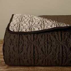 Luxe Versailles 'Rivoli' Iridescent Silk Full/ Queen-size Quilt