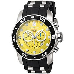 Invicta Men's Pro Diver Chronograph Black Polyurethane Watch