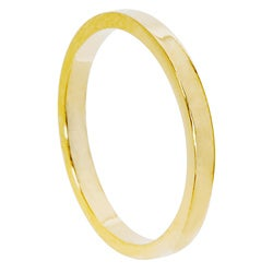 Yellow 14k Gold Women's Overlay Contoured Fit Band (2 mm)